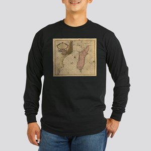 Vintage Map of Madagascar (167 Long Sleeve T-Shirt